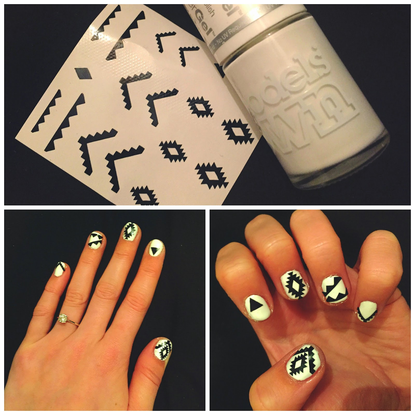 Party nails | Party nail art | Aztec nail art