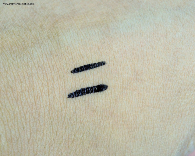 KATE Deep Liquid Eyeliner WP BK 1 Swatches