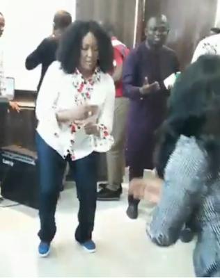Pastor Nike Adeyemi Of Daystar Christian Centre Dancing Zanku And Leg Work