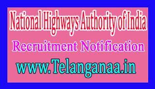 National Highways Authority of India – NHAI Recruitment Notification  2017