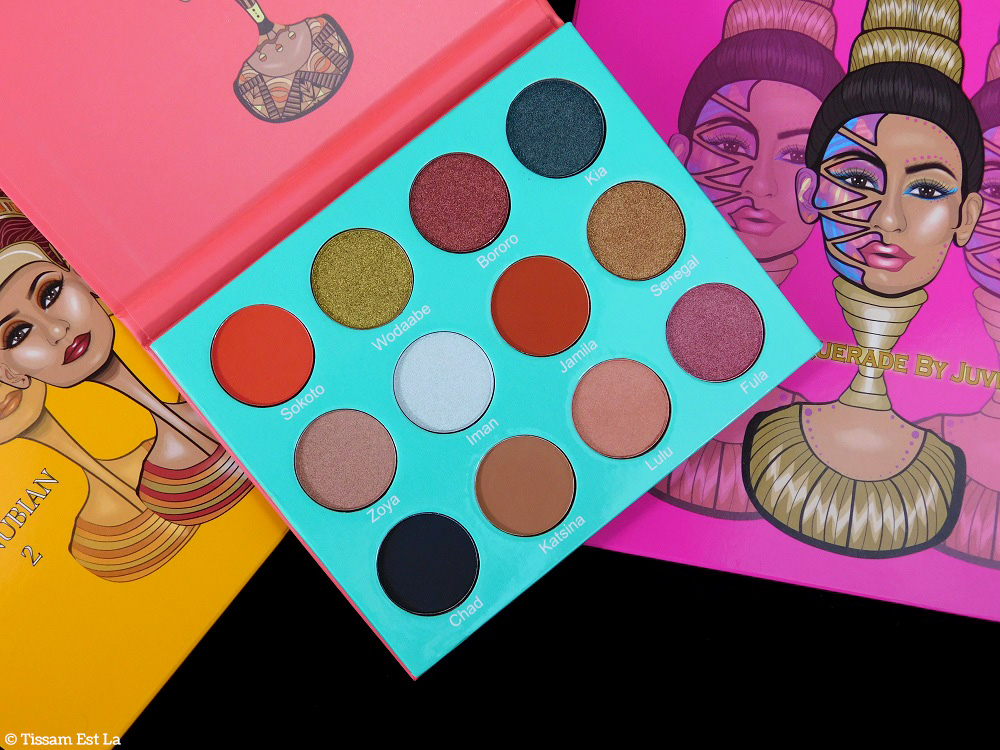 Juvia's Place - Saharan Palette Review - Revue - Avis & Swatches - Swatch - Ckarlysbeauty - The Magic Palette - Nubian 2 Palette - Masquerade Palette