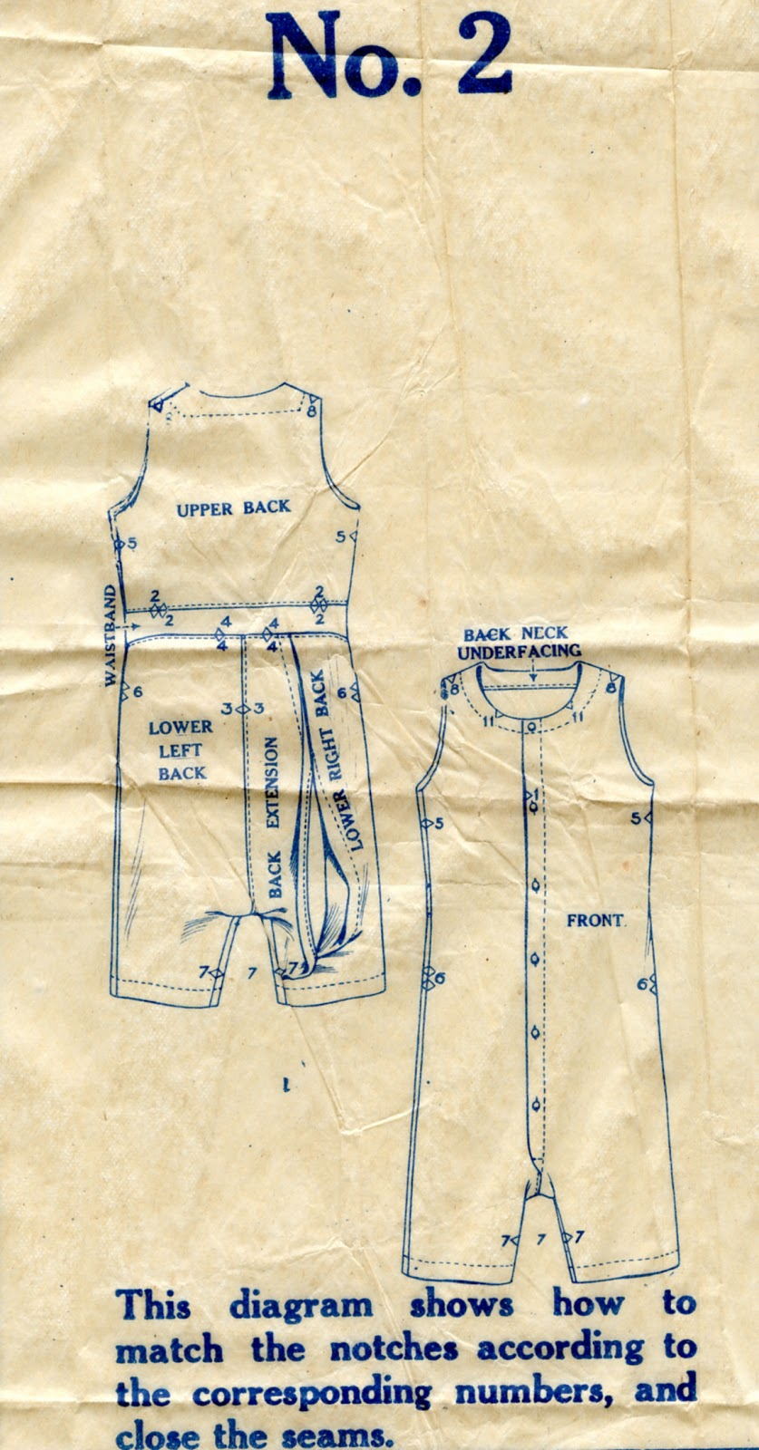 Unsung Sewing Patterns: McCall 3720 Men's and Boys' Union Suit
