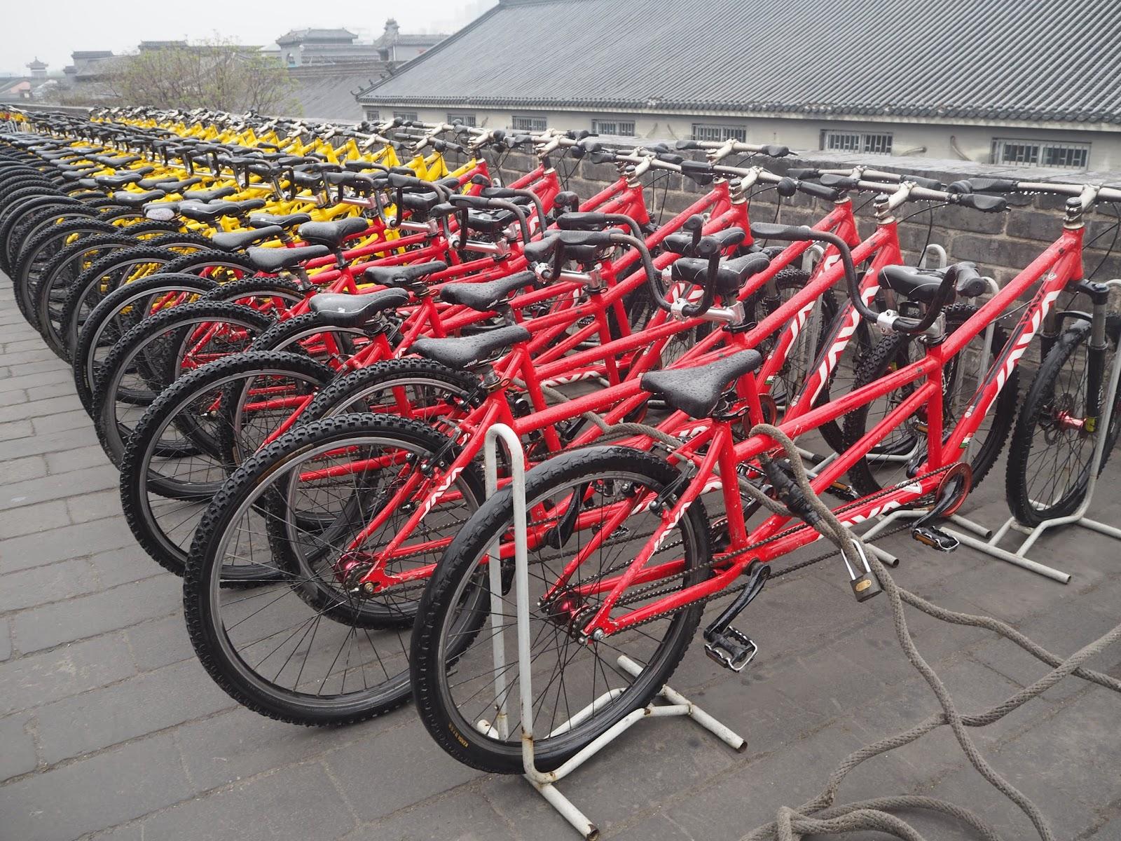 xi'an city walls bicycle hire