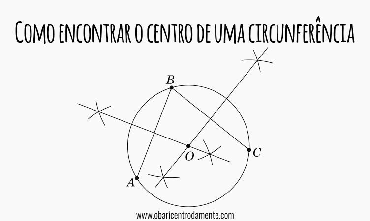 Como encontrar o centro de uma circunferência