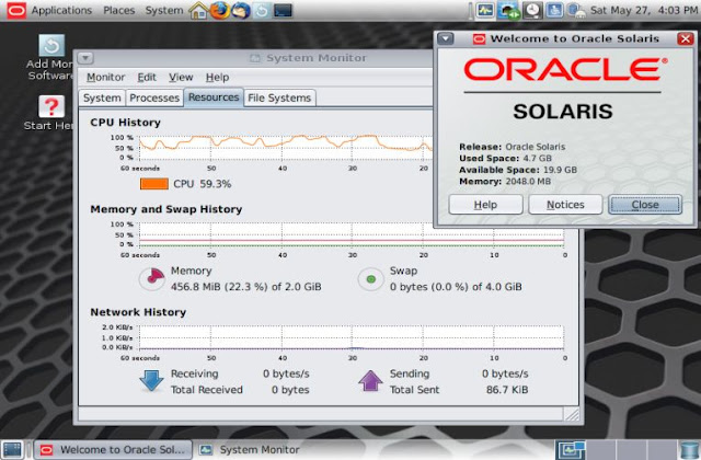 Supratim Sanyal's Blog: Oracle Solaris 11.3 Intel x86 64-bit gnome desktop environment