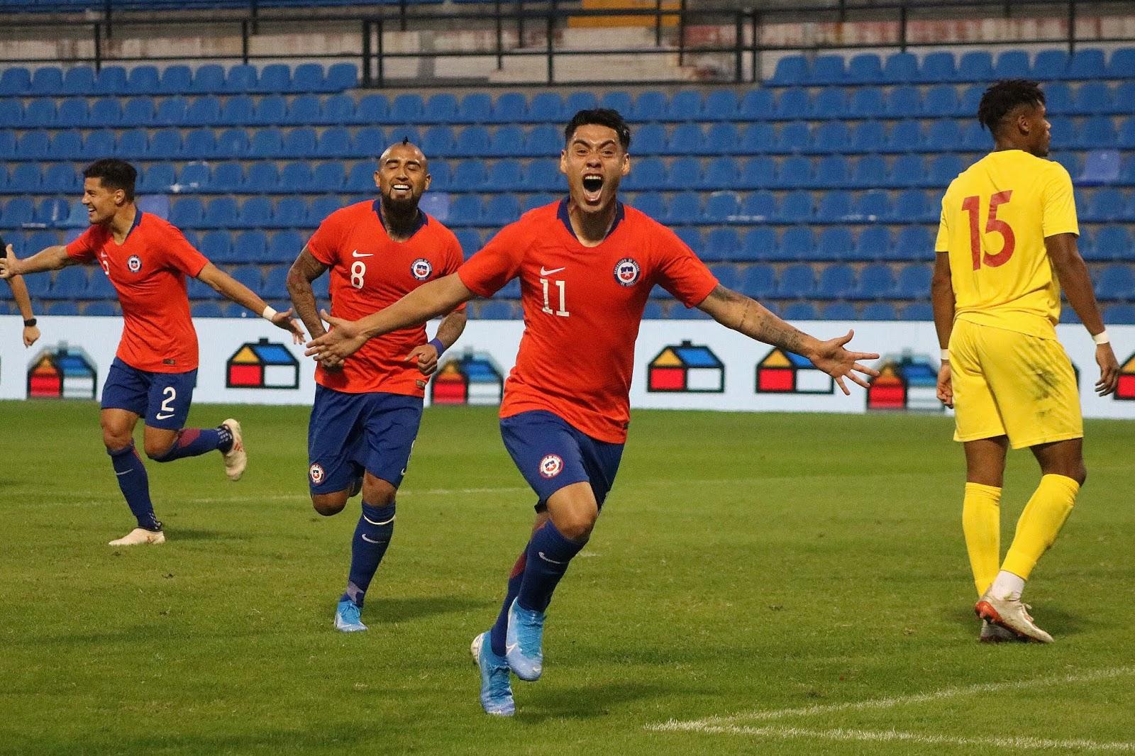 Guinea y Chile en partido amistoso, 15 de octubre de 2019