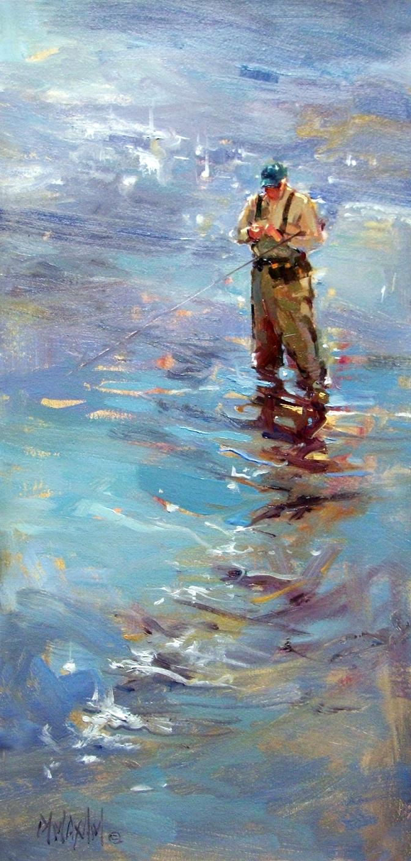 Mary maxam paintings november 2013 for Fly fishing art