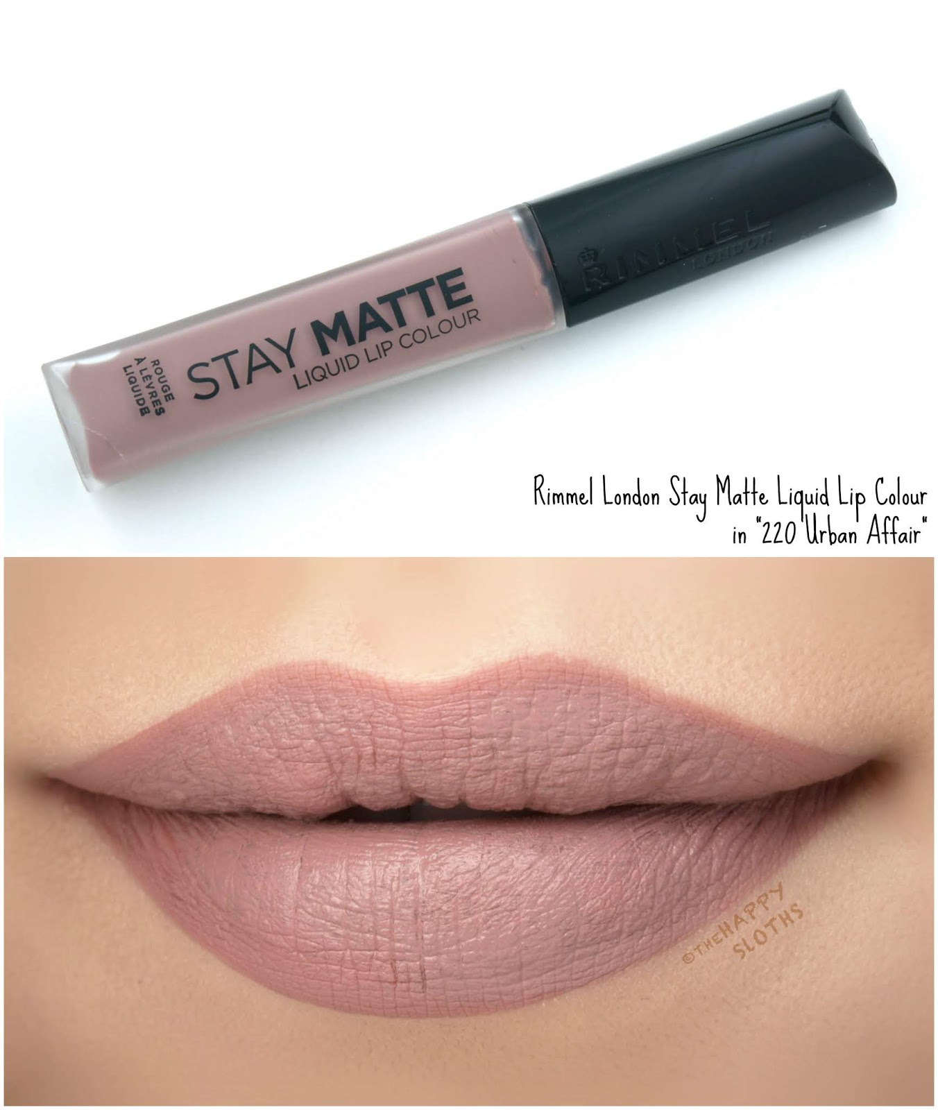 "Rimmel London | Stay Matte Liquid Lip Colour in ""220 Urban Affair"": Review and Swatches"