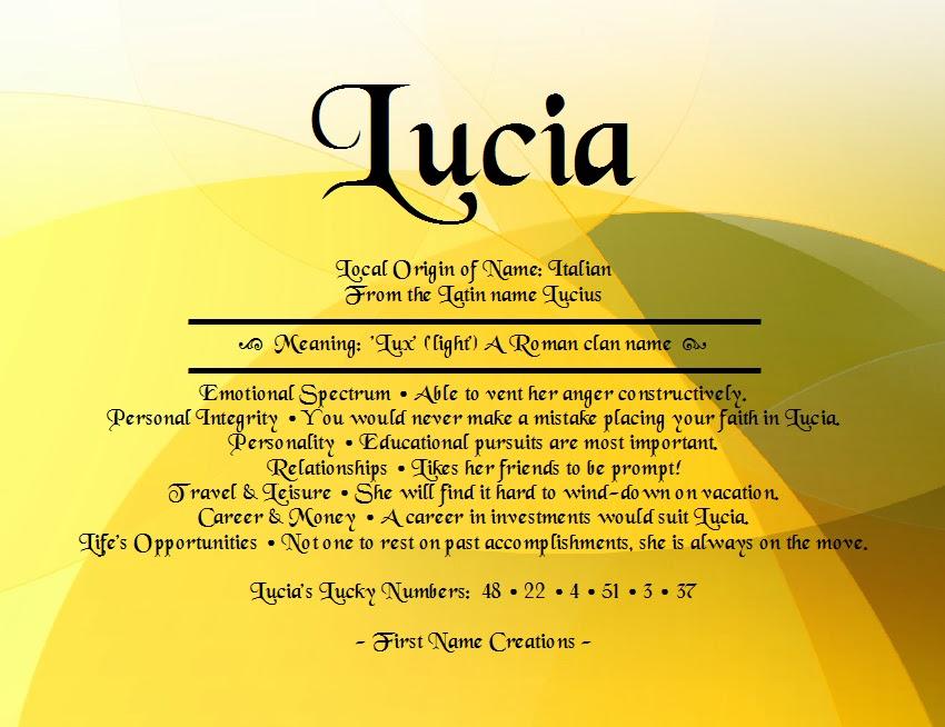 Baby Girl Name Lucia Meaning Bringer Of Light Origin French English Latin Swedish Dutch Portuguese New Baby Girl Names Baby Girl Names New Baby Names