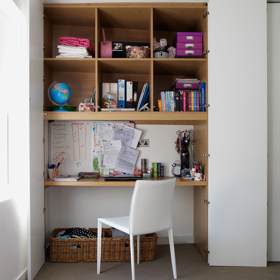 Small Space Study Ideas: New Home Interior Design: Storage Solutions For Small Spaces