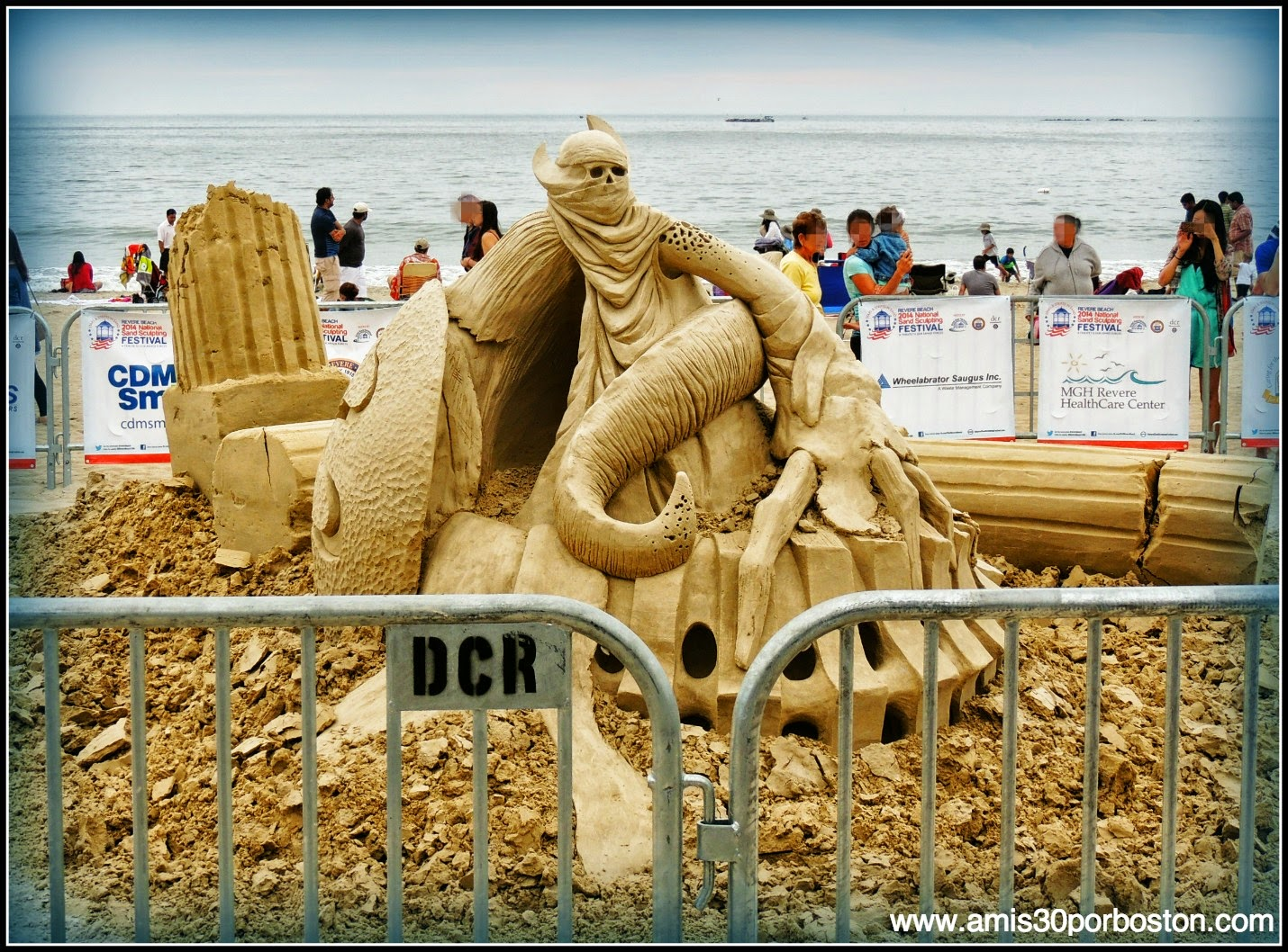 "Revere Beach 2014 National Sand Sculpting Festival: ""Spawn Of Medusa"""