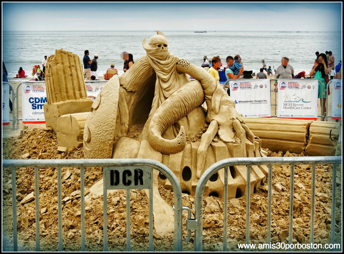 """Revere Beach 2014 National Sand Sculpting Festival: """"Spawn Of Medusa"""""""