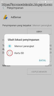 Pilihan penyimpanan aplikasi