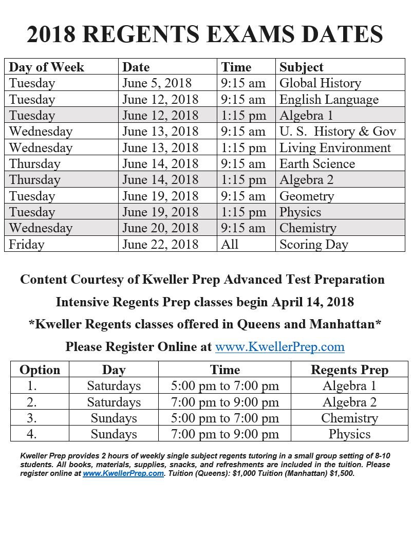 Kweller prep blog nyc middle school high school and college register for regents classes at kwellerprep malvernweather Choice Image