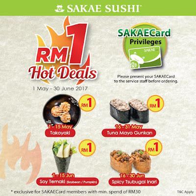 Sakae Sushi Malaysia SAKAECard Privileges RM1 Hot Deals