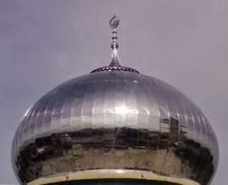 harga kubah masjid enamel bahan panel steel stainless murah pengrajin