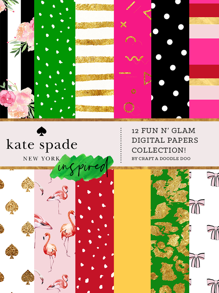 FREE KATE SPADE INSPIRED PRINTS BY CRAFT A DOODLE DOO. Chic Kate Spade printables for free download #free #printables #katespade #collection #digital #prints