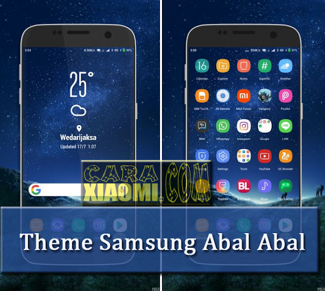 MIUI Theme Samsung Abal - Abal Mtz For Xiaomi Terbaru