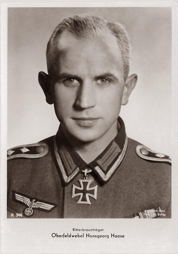 Hans-Georg Haase Ritterkreuzträger Knight Cross Holder Postcard