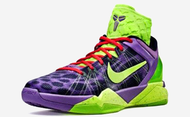 official photos fa13b a2391 Nike Kobe VII System Supreme Violet Pop Volt-Ink-Electric Green 488369-500.  Posted by THE ...
