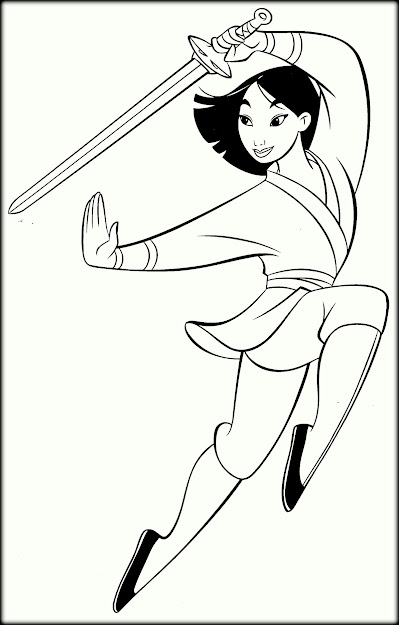Walt Disney Coloring Pages Fa Mulan Characters  Fit