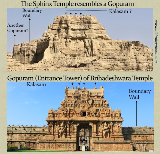 The Balochistan Sphinx-Temple could be a gopuram i.e. the entrance tower of a temple