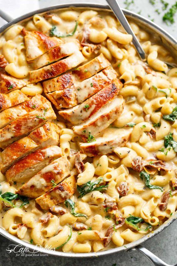 Tuscan Chicken Mac And Cheese #Tuscan #Chicken #Mac #Cheese #Dinner #Bestdinner