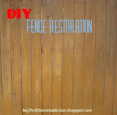 DIY Wood Fence Restoration