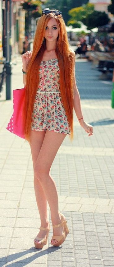 A very beautiful dressed young woman - She is gorgeous. ♥ ♥