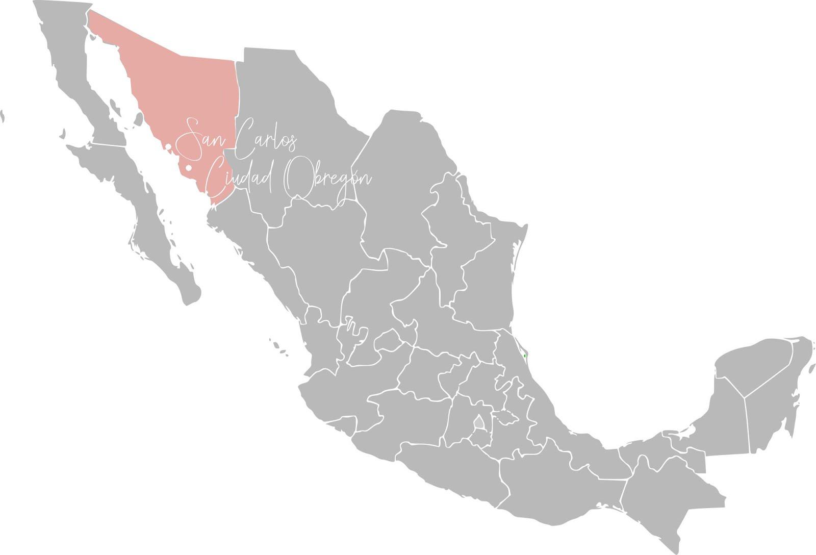 le nord ouest du mexique