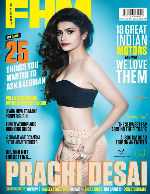 Prachi Desai's HOT Photoshoot for FHM India - August
