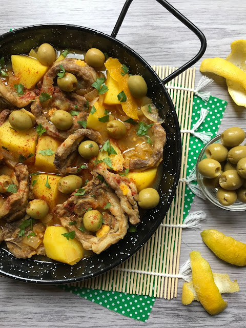 guiso marroquí de cordero y patatas receta