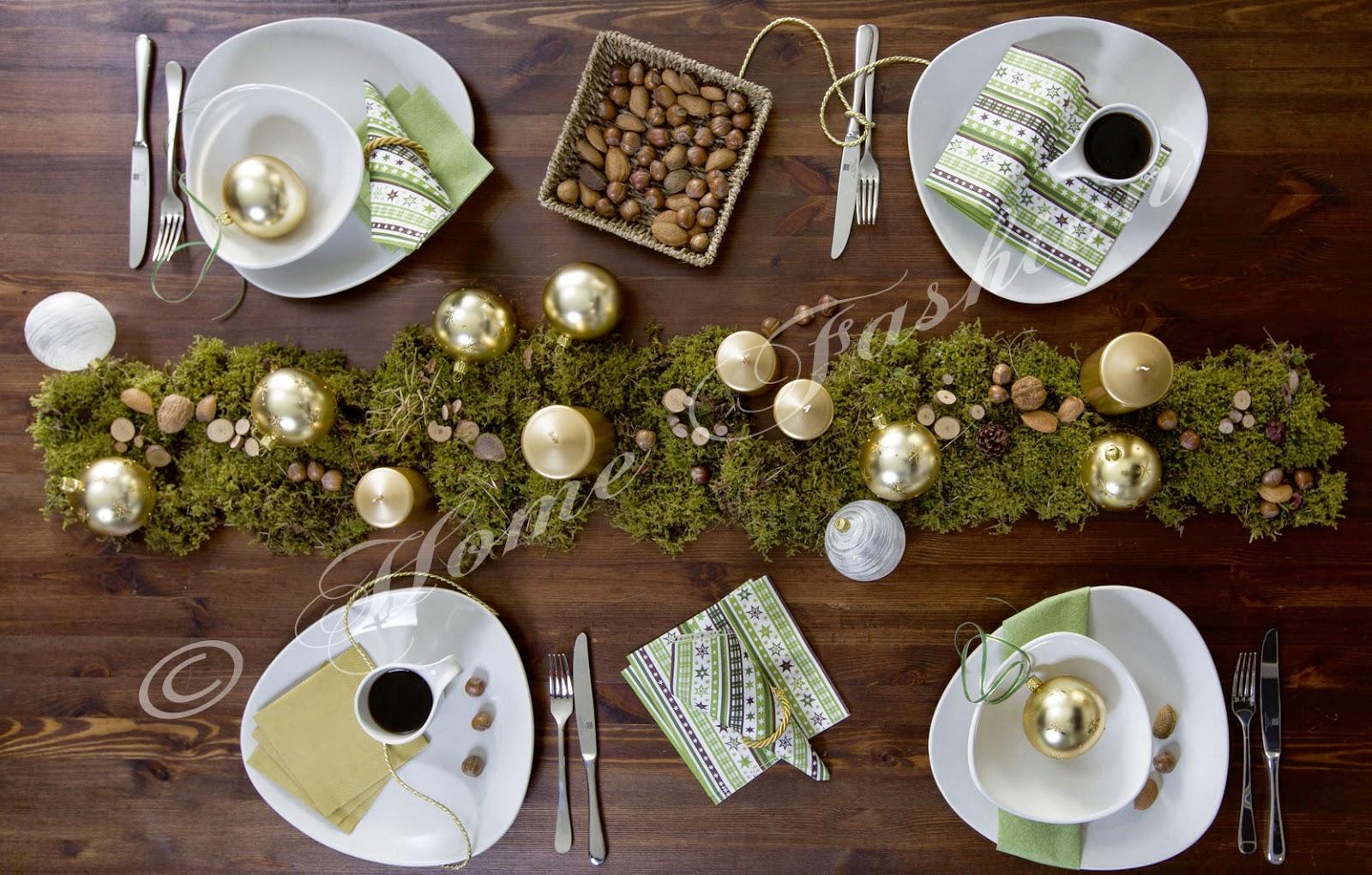 ideen f r die weihnachtstischdeko home fashion servietten und tischdekoration. Black Bedroom Furniture Sets. Home Design Ideas