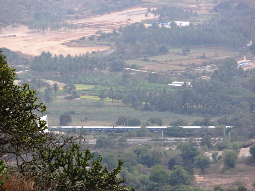 view from Sholay's Ramgarh - Ramadevarabetta near Bangalore