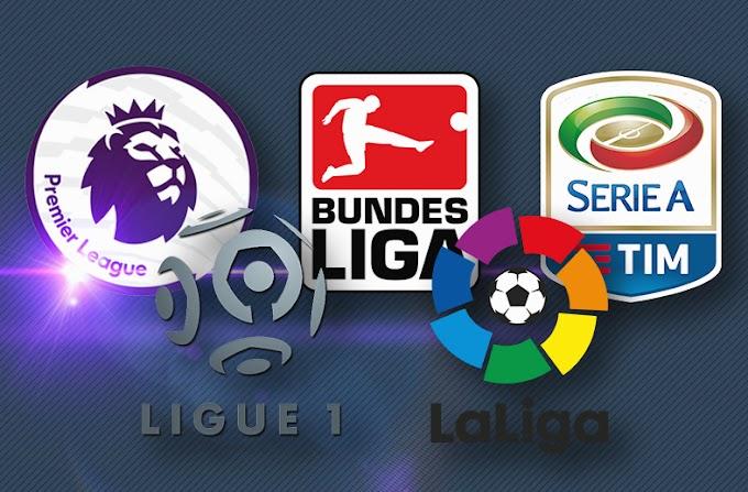 5 juara liga daripada 5 liga di Eropah