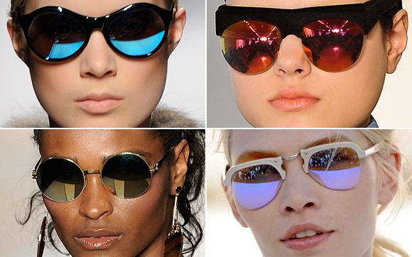 05641652d E os óculos espelhados estão fazendo a cabeça de fashionistas e  celebridades do mundo todo.São vários modelos e pelo que tenho visto quanto  mais coloridos ...