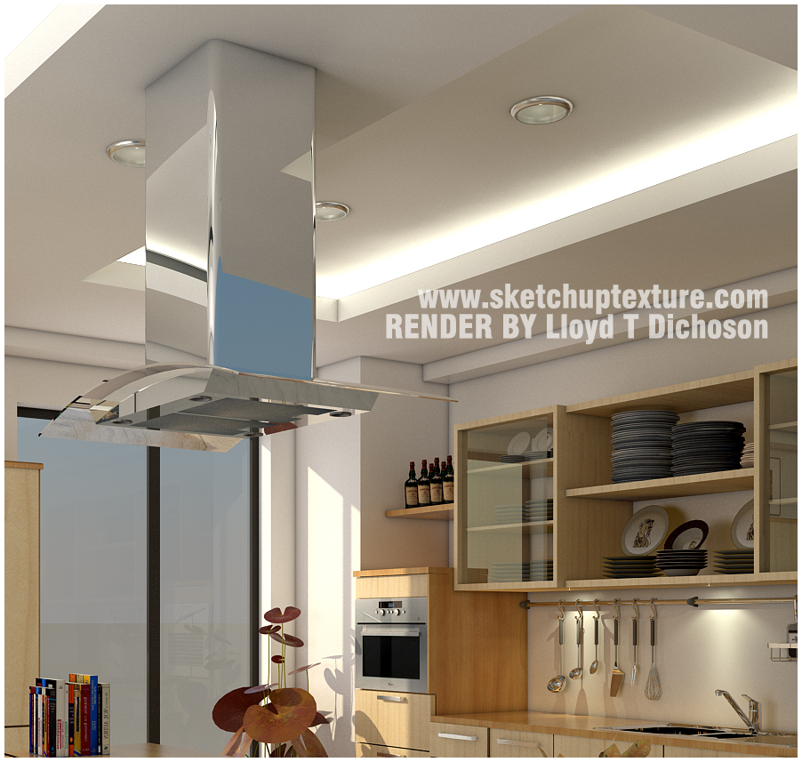 SKETCHUP TEXTURE: FREE SKETCHUP 3D SCENE KITCHEN AREA