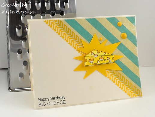 Happy Birthday Cheese Card by Katie Brooks using Just Say Cheese Stamp - Newton's Nook Designs