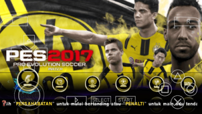 Download PES Jogress 2017 PPSSPP/PSP ISO CSO High Compress V2 Full Transfer + Save Data Terbaru Mei 2017