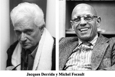 Jacques Derrida y Michel Focault