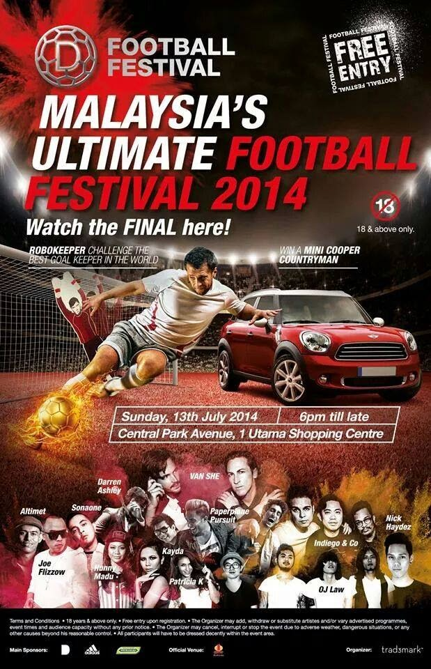 D Football Festival 2014 @ Central Park, 1 Utama, 2014 FiFA World Cup Brazil, 2014 FiFA World Cup, World Cup, Football Match, D Football Festival