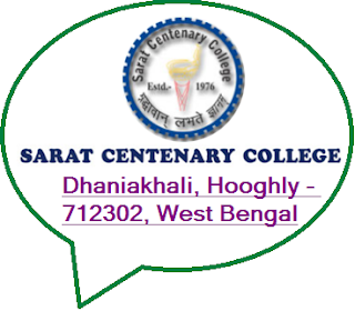 Sarat Centenary College, Dhaniakhali, Hooghly - 712302, West Bengal