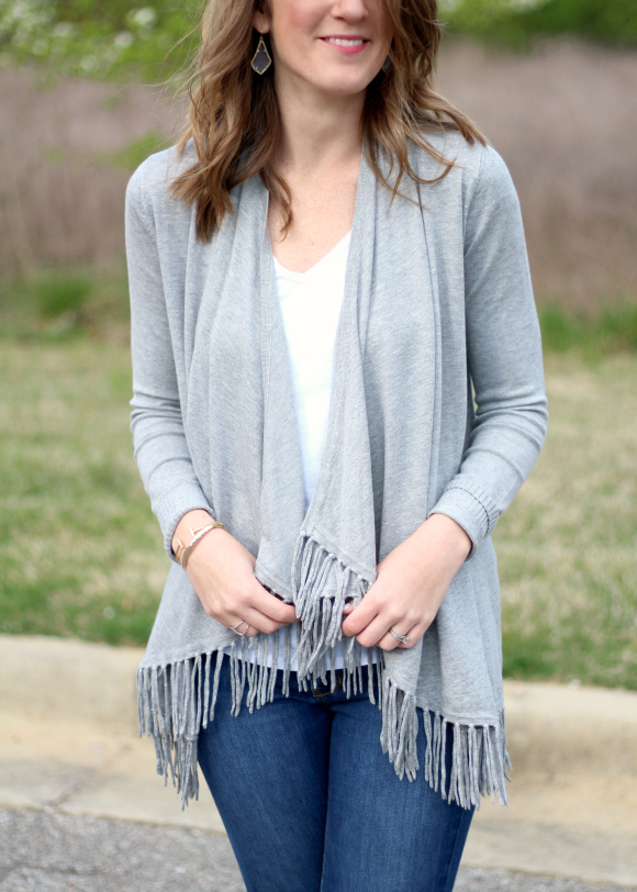 Stitch Fix March Central Park West Bonay Fringe Cardigan