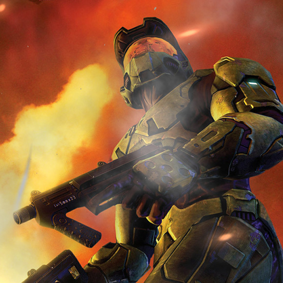 Halo 2 Master Chief with Gun Wallpaper Engine