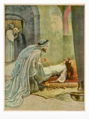 Jesus raises Jairus' daughter - Artist unknown
