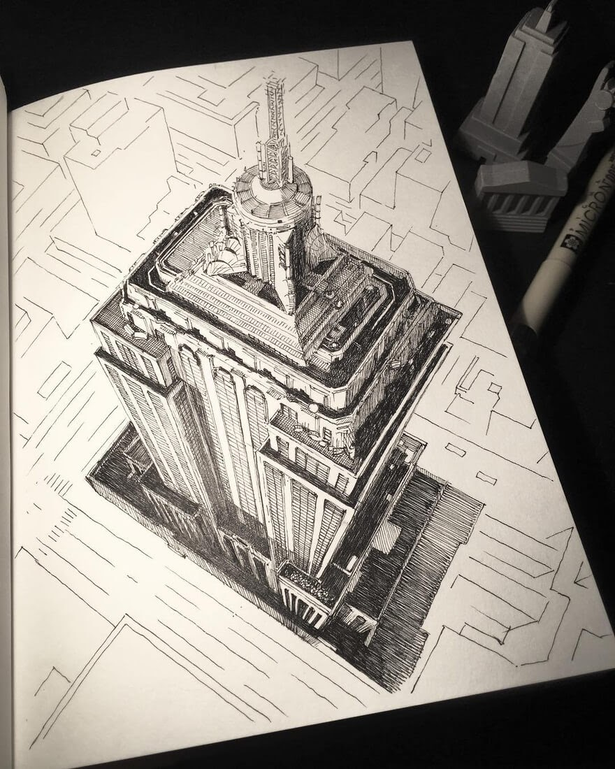 10-New-York-on-Paper-Mark-Poulier-Drawing-Urban-Architecture-on-a-Sketchbook-www-designstack-co