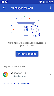 CARA SIGN OUT ( KELUAR ) PADA ANDROID MESSAGES FOR WEB