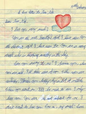 Love letter for courting a girl