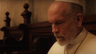 John Malkovich como o Papa João Paulo III em The New Pope. (Fonte: IMDB/Divulgação)