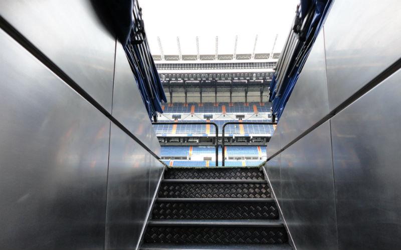 Los vestuarios de Real Madrid en el Tour Bernabeu